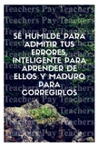 Spanish Motivational Poster (Be humble and admit your errors)