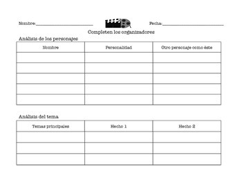spanish movie worksheets by elissa garcia teachers pay teachers. Black Bedroom Furniture Sets. Home Design Ideas