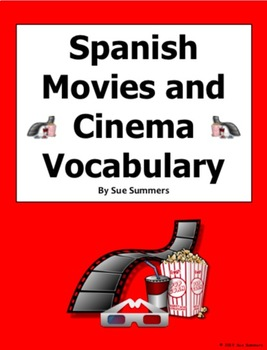 Spanish Movie And Cinema Vocabulary 90 Words Las Películas Y El Cine