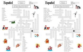 Spanish Movies and Cinema Bundle - Vocabulary, Crossword, Puzzle, Game and More!