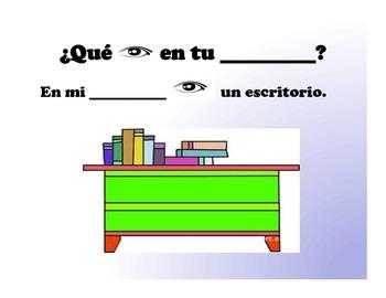 Spanish Muebles de la Casa-Furniture Presentation and Activities