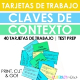 Spanish Context Clues Task Cards - 40 Tarjetas de trabajo