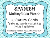 Spanish Multisyllabic Word Picture Cards