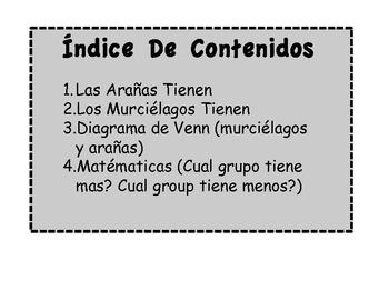 Spanish - Murciélagos y Arañas