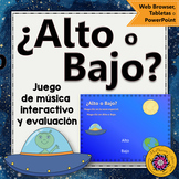 Spanish Music Game: High Low Interactive Music Game + Assessment {spaceship}