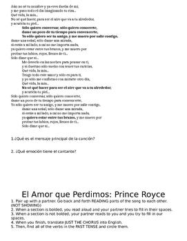 Spanish Music Packet
