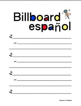 Spanish Music Poster: Billboard Español Award