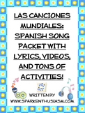 Spanish Music, Songs, Hispanic Singers and Countries Unit - 195 pages