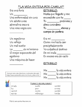 spanish music songs hispanic singers and countries unit 195 pages