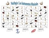 Spanish Musical Instrument Speaking/Writing  Activity (Naufragio)