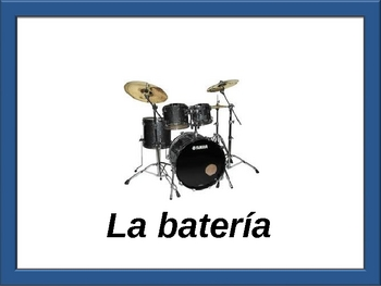 Spanish Musical Instrument  Vocab-Powerpoint Activities and Games