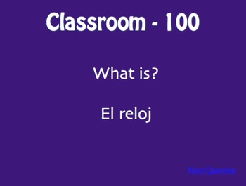 Spanish My Classroom Jeopardy-Style Review Game