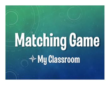 Spanish My Classroom Matching Game