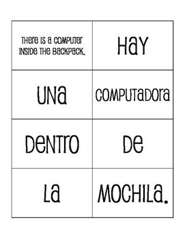 Spanish My Classroom Sentence Mixer
