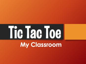 Spanish My Classroom Tic Tac Toe