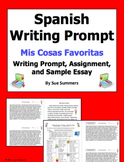 Spanish My Favorite Things Writing Prompt - Mis Cosas Favoritas