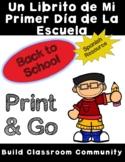 Spanish My First Day of School Mini book