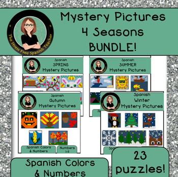 Spanish Mystery Pictures BUNDLE! 4 Seasons Edition