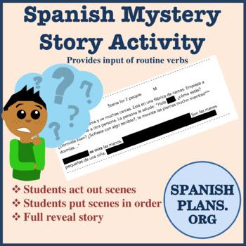Spanish Mystery Story Activity