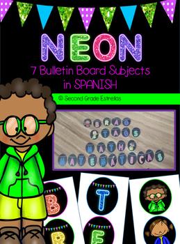 Spanish NEON bulletin board subjects