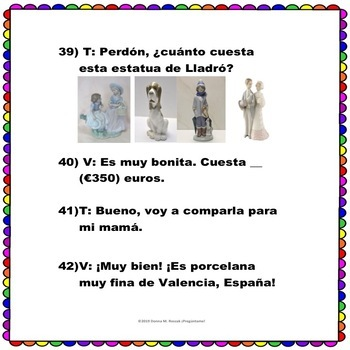 Spanish Números 0-1000 ¿Cuánto cuesta..? Questions w/ prices in the Marketplace!