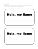 Spanish Name Tag Activity