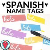 Spanish Name Tags - Spanish Back to School - Spanish Greetings