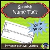 Spanish Name-tag (Nametag, Name tag)
