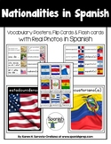 Spanish Speaking Nationalities Vocabulary Posters & Flashcards with Real Photos