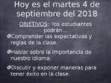 Spanish Native Speakers First Day