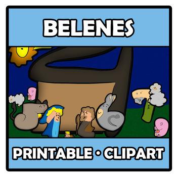 Printable Clipart - Spanish Nativities - Belenes