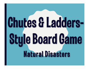Spanish Natural Disasters Chutes-and Ladders Style Game