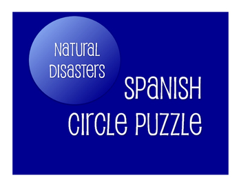 Spanish Natural Disasters Circle Puzzle