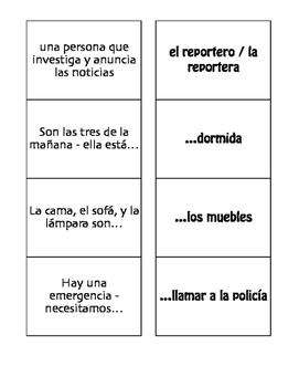 Spanish Natural Disasters Matching Game
