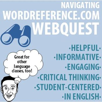 World language navigating wordreference webquest tpt world language navigating wordreference webquest negle Gallery
