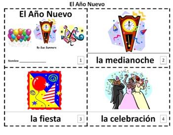 Spanish New Year El Año Nuevo Booklets and Presentation