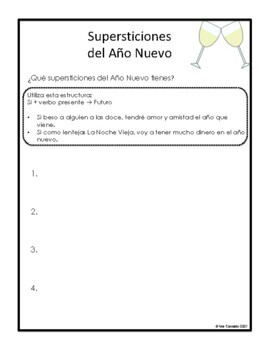 Spanish New Years Superstitions (Present Tense, Future Tense)