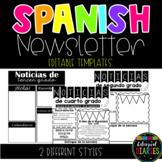 Spanish Newsletter Template EDITABLE