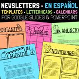 Spanish Newsletter Templates Editable Plus Letterheads and Calendars
