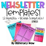 Spanish Newsletter Templates! Months Included!