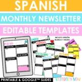 Spanish Newsletter Templates - Printable & Digital - Dista