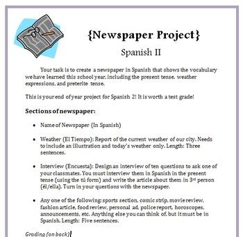 Spanish Newspaper Project