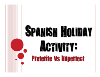 Spanish Night Before Christmas Preterite Vs Imperfect Activity
