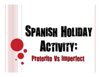 Spanish Night Before Christmas Preterite Vs Imperfect Activity
