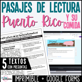 Spanish Non Fiction Passages Puerto Rico Food | Textos informativos