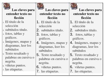 Spanish Non-fiction bookmarks