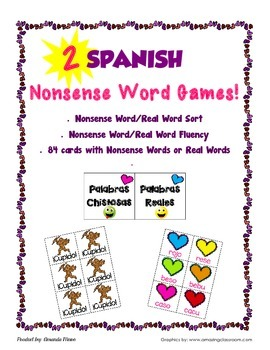 Spanish Nonsense Word Games
