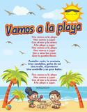 Spanish Nos Vamos a la Playa Song -  Flashcards - Beach