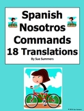 Spanish Nosotros Command Sentences and Translations