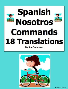 Spanish Nosotros Command Sentences and Translations by Sue Summers